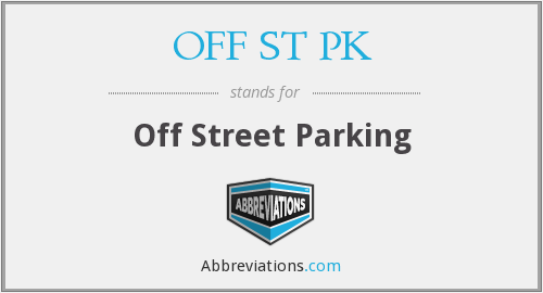 OFF ST PK - Off Street Parking