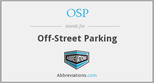 OSP - Off-Street Parking
