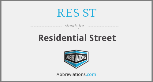 RES ST - Residential Street