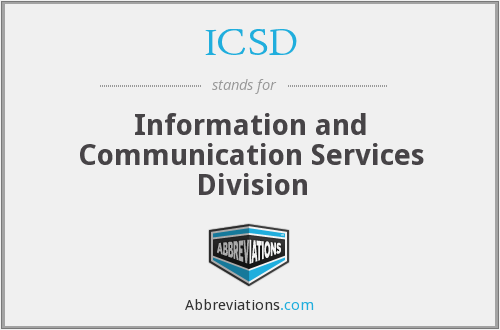 ICSD - Information and Communication Services Division