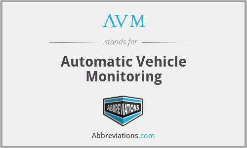 AVM - Automatic Vehicle Monitoring