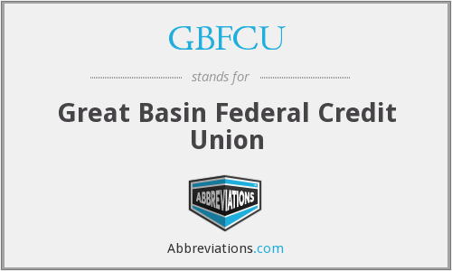 GBFCU - Great Basin Federal Credit Union