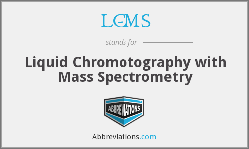 LC-MS - Liquid Chromotography with Mass Spectrometry