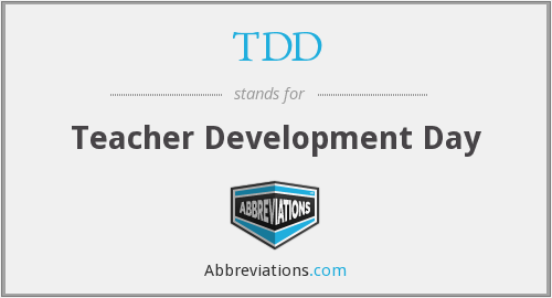 TDD - Teacher Development Day