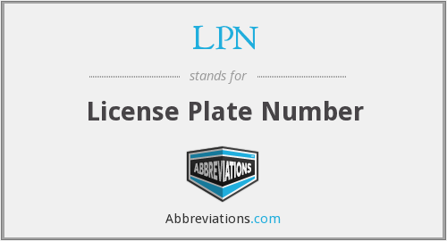 LPN - License Plate Number