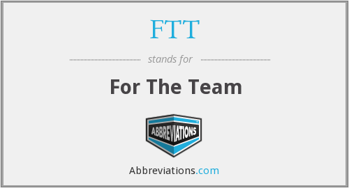 FTT - For The Team