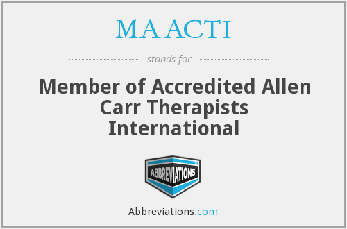 MAACTI - Member of Accredited Allen Carr Therapists International