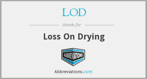 LOD - Loss On Drying
