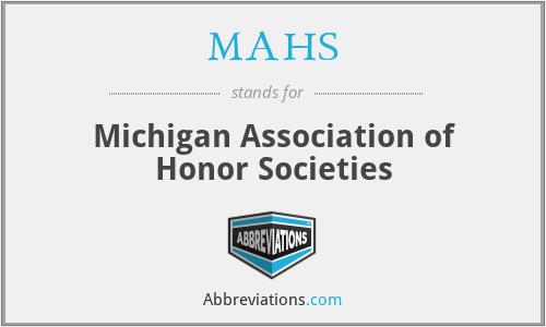 MAHS - Michigan Association of Honor Societies