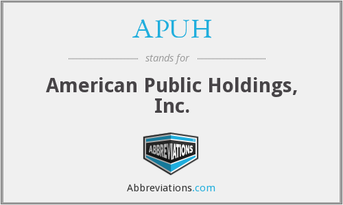 What does APUH stand for?
