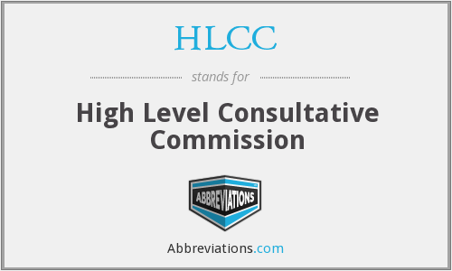 HLCC - High Level Consultative Commission