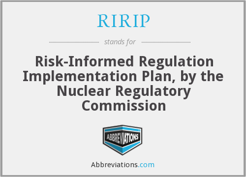 What does RIRIP stand for?