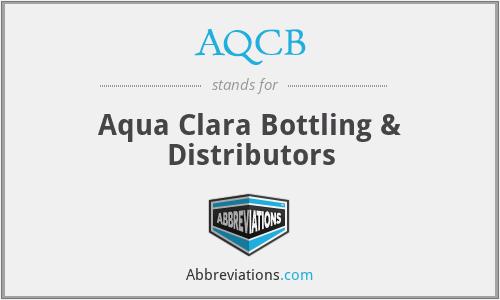 AQCB - Aqua Clara Bottling & Distributors