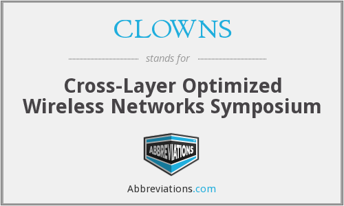 CLOWNS - Cross-Layer Optimized Wireless Networks Symposium