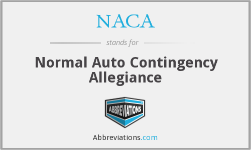 NACA - Normal Auto Contingency Allegiance