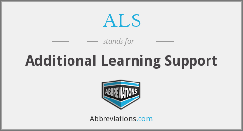 What does ALS stand for?