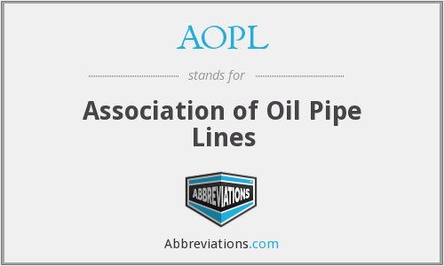 AOPL - Association of Oil Pipe Lines