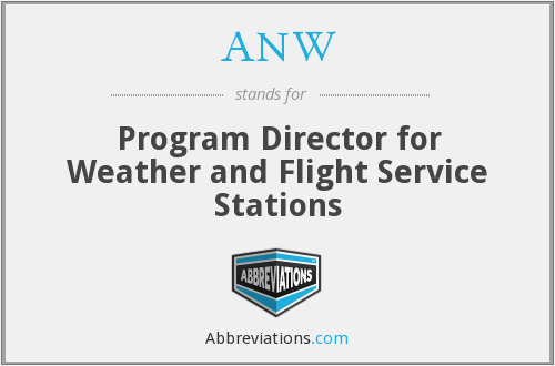 ANW - Program Director for Weather and Flight Service Stations