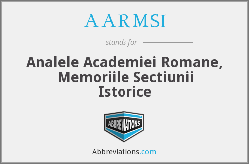 What does AARMSI stand for?