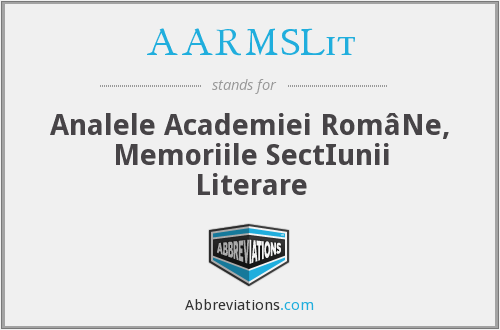 What does AARMSLIT stand for?