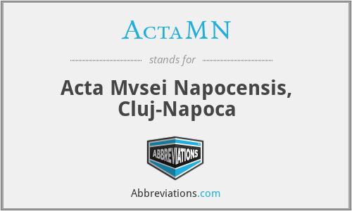 ActaMN - Acta Mvsei Napocensis, Cluj-Napoca