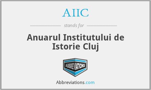 AIIC - Anuarul Institutului De Istorie Cluj