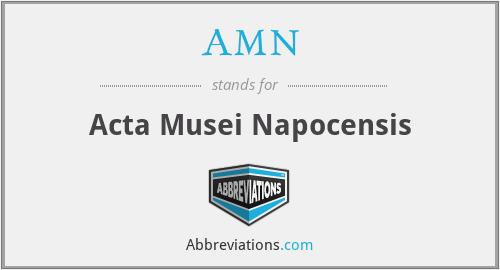 AMN - Acta Musei Napocensis