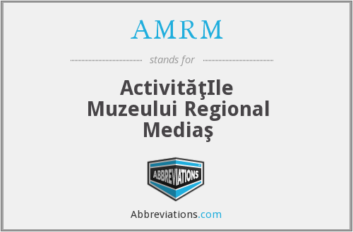 What does AMRM stand for?