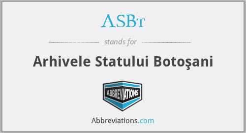 ASBt - Arhivele Statului BotoşAni