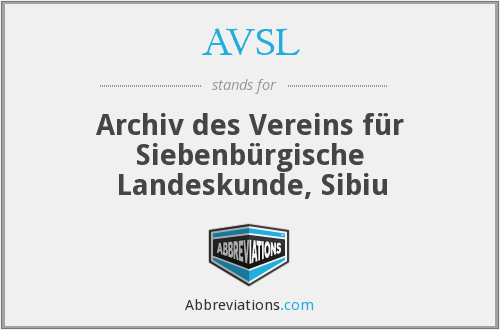 What does AVSL stand for?