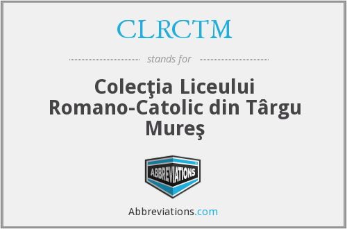 What does CLRCTM stand for?