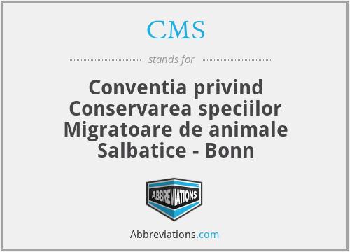 CMS - Conventia Privind Conservarea Speciilor Migratoare De Animale Salbatice - Bonn