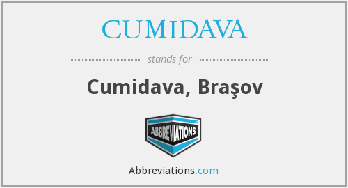 What does CUMIDAVA stand for?