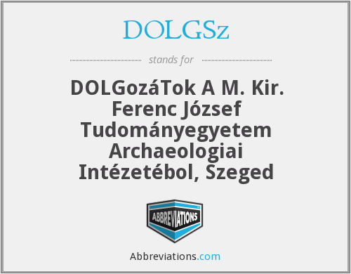 What does DOLGSZ stand for?