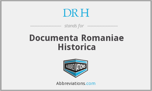 DRH - Documenta Romaniae Historica