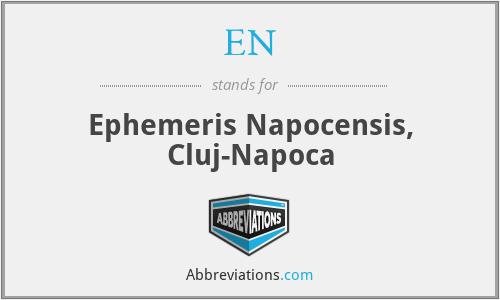 EN - Ephemeris Napocensis, Cluj-Napoca