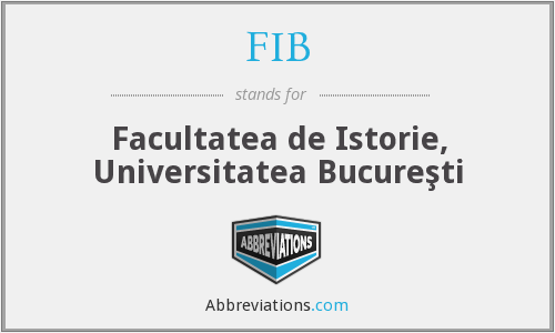 FIB - Universitatea BucureşTi, Facultatea De Istorie
