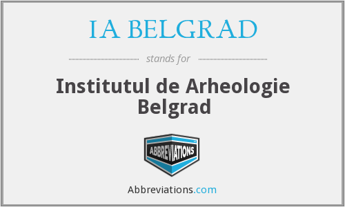 What does IA BELGRAD stand for?