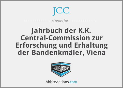 JCC - Jahrbuch Der K.K. Central-Commission Zur Erforschung Und Erhaltung Der BandenkmäLer, Viena
