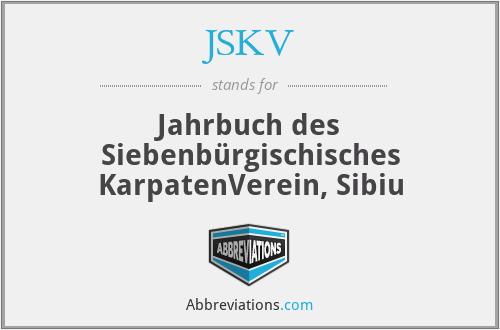 JSKV - Jahrbuch Des SiebenbüRgischisches Karpatenverein, Sibiu