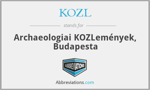 Közl. - Archaeologiai KöZleméNyek, Budapesta