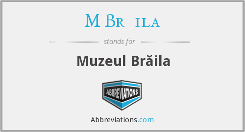 What does M BRĂILA stand for?
