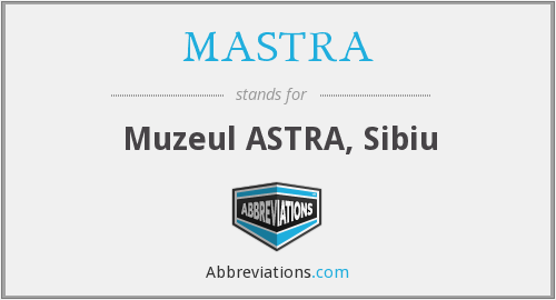 What does MASTRA stand for?