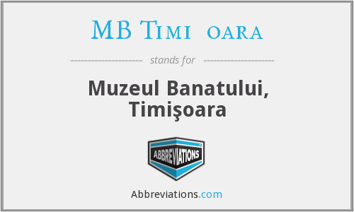 What does MB TIMIŞOARA stand for?
