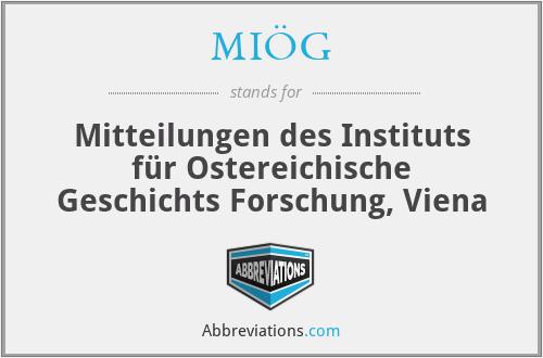 MIÖG - Mitteilungen des Instituts für Ostereichische Geschichts Forschung, Viena