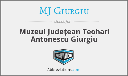 What does MJ GIURGIU stand for?
