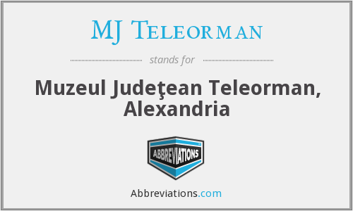 What does MJ TELEORMAN stand for?