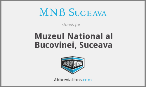 What does MNB SUCEAVA stand for?