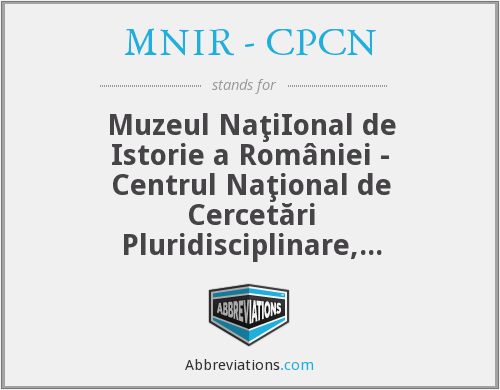 What does MNIR - CPCN stand for?