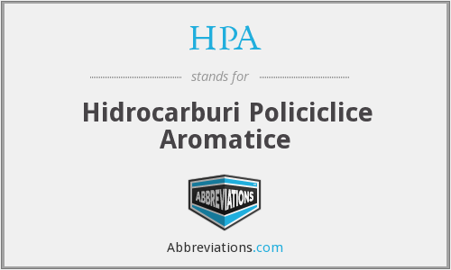 HPA - Hidrocarburi Policiclice Aromatice